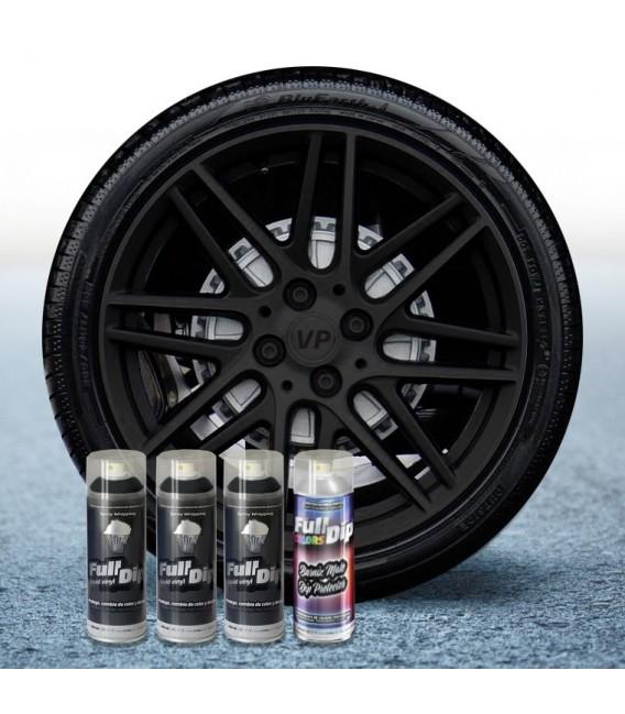 Pack 3 Sprays de 400ml Color NEGRO + 1 Spray Barniz MATE