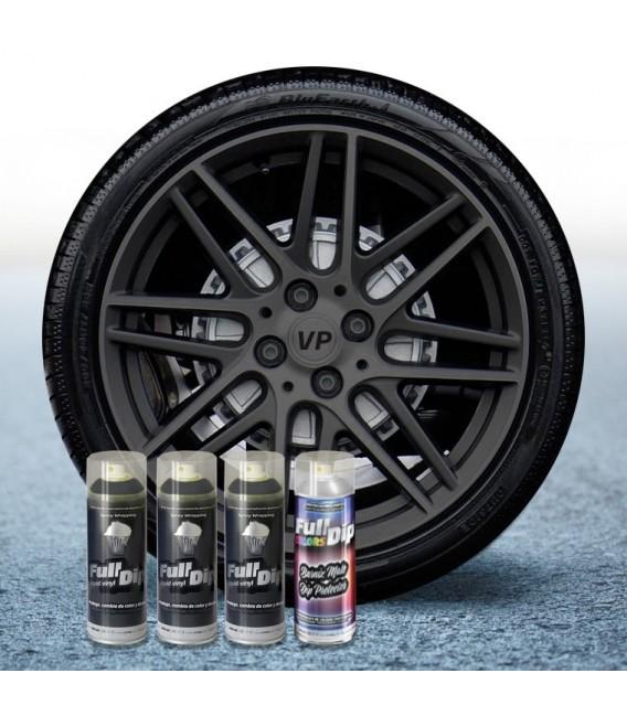 Pack 3 Sprays de 400ml Color GUN METAL + 1 Spray Barniz MATE