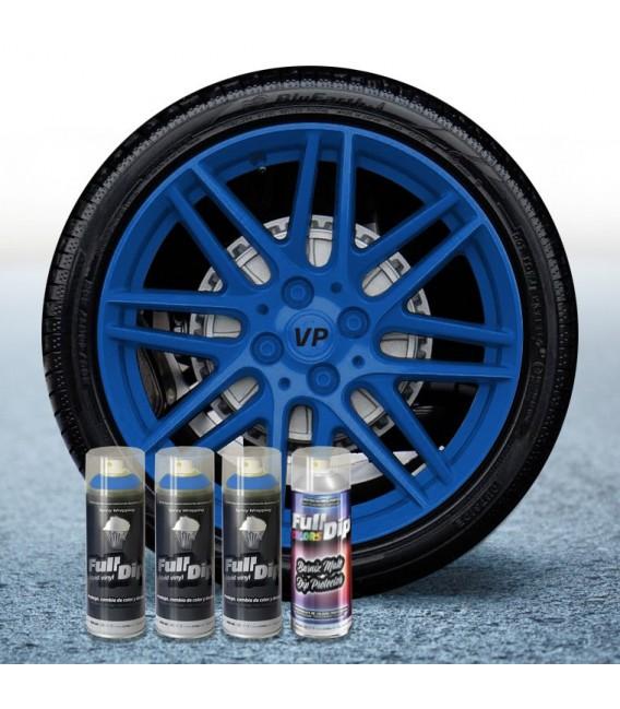 Pack 3 Sprays de 400ml Color AZUL OSCURO + 1 Spray Barniz MATE