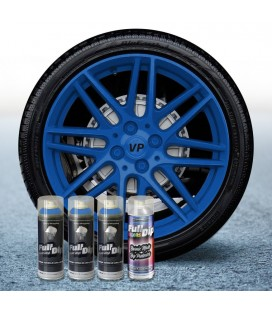 Pack 3 Sprays de 400ml Color AZUL OSCURO + 1 Spray Barniz MATE
