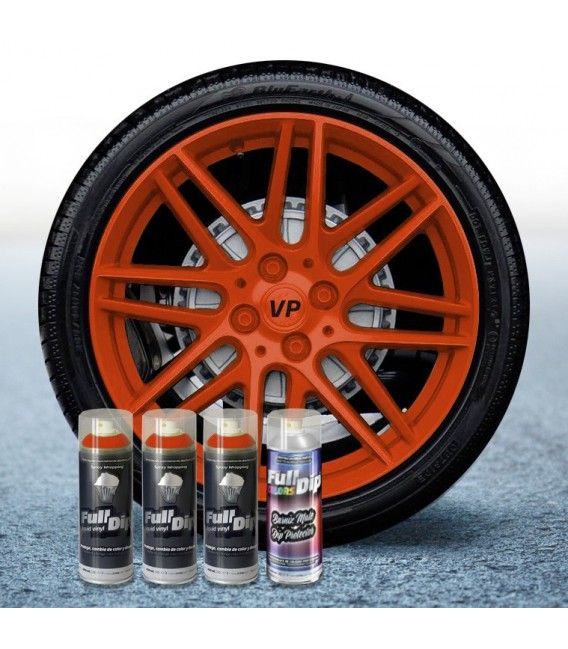 Pack 3 Sprays de 400ml Color NARANJA + 1 Spray Barniz MATE