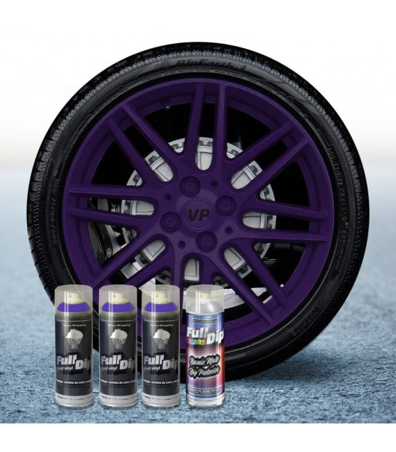 Pack 3 Sprays de 400ml Color VIOLETA + 1 Spray Barniz MATE