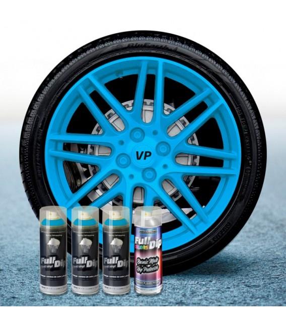 Pack 3 Sprays de 400ml Color AZUL PITUFO + 1 Spray Barniz MATE