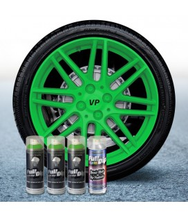 Pack 3 Sprays de 400ml Color VERDE LIMA + 1 Spray Barniz MATE