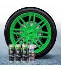 Pack 3 Sprays de 400ml Color VERDE LIMA + 1 Spray Barniz MATE