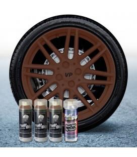 Pack 3 Sprays de 400ml Color MARRON MILITAR + 1 Spray Barniz MATE