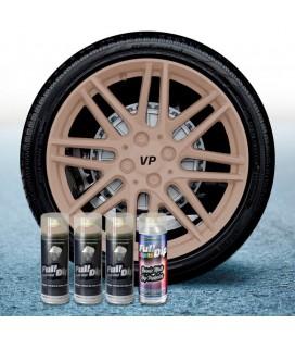 Pack 3 Sprays de 400ml Color BEIGE MILITAR + 1 Spray Barniz MATE