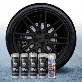 Pack 4 Sprays de 400ml Color NEGRO + 1 Spray Barniz MATE