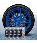 Pack 4 Sprays de 400ml Color AZUL OSCURO + 1 Spray Barniz MATE