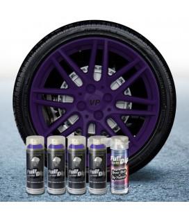 Pack 4 Sprays de 400ml Color VIOLETA + 1 Spray Barniz MATE