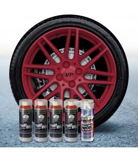 Pack 4 Sprays de 400ml Color ROJO CEREZA + 1 Spray Barniz MATE