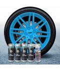 Pack 4 Sprays de 400ml Color AZUL PITUFO + 1 Spray Barniz MATE