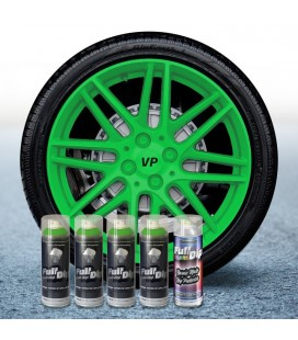 Pack 4 Sprays de 400ml Color VERDE LIMA + 1 Spray Barniz MATE