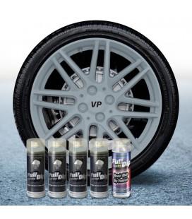 Pack 4 Sprays de 400ml Color NARDO GREY + 1 Spray Barniz MATE