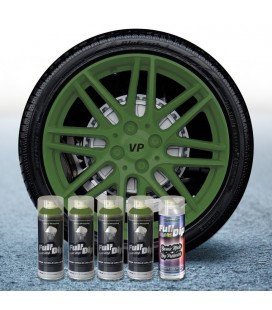 Pack 4 Sprays de 400ml Color VERDE MILITAR + 1 Spray Barniz MATE
