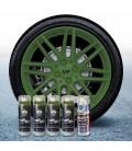 Pack 4 Sprays de 400ml Color VERDE MILITAR + 1 Spray Barniz MATE