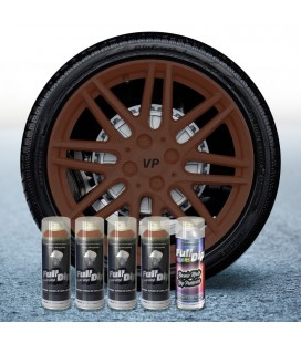 Pack 4 Sprays de 400ml Color MARRON MILITAR + 1 Spray Barniz MATE