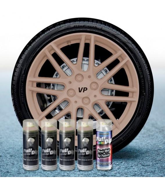 Pack 4 Sprays de 400ml Color BEIGE MILITAR + 1 Spray Barniz MATE