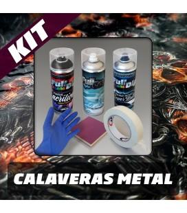 KIT Hidroimpresión Permanente CALAVERA METAL