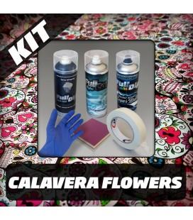 KIT Hidroimpresión Removible CALAVERA FLOWERS