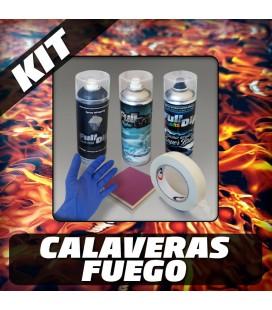 KIT Hidroimpresión Removible CALAVERA FUEGO