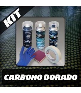 KIT Hidroimpresión Removible CARBONO DORADO