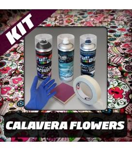 KIT Hidroimpresión Permanente CALAVERA FLOWERS