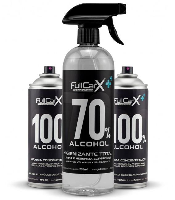 PACK x2 Sprays 400ml + x1 Higienizante Hidroalcohólico 750ml