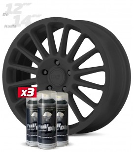 Pack 3 Sprays de 400ml Color GUN METAL