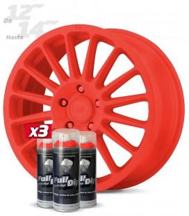 Pack 3 Sprays de 400ml Color ROJO