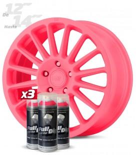 Pack 3 Sprays de 400ml Color ROSA CHICLE
