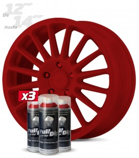 Pack 3 Sprays de 400ml Color ROJO CARMÍN