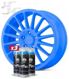 Pack 3 Sprays de 400ml Color AZUL LUMINOSO