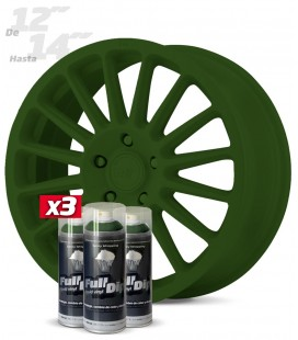 Pack 3 Sprays de 400ml Color VERDE MILITAR