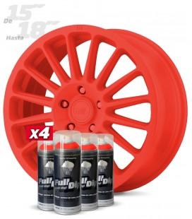 Pack 4 Sprays de 400ml Color ROJO