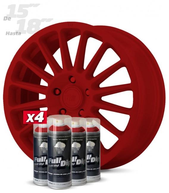 Pack 4 Sprays de 400ml Color ROJO CARMÍN