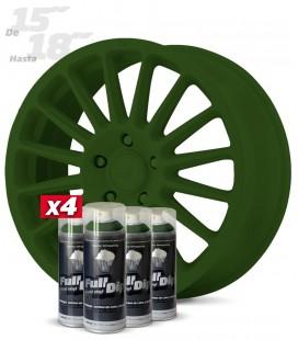 Pack 4 Sprays de 400ml Color VERDE MILITAR