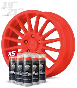Pack 5 Sprays de 400ml Color ROJO