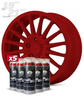 Pack x5 Sprays ROJO CARMIN