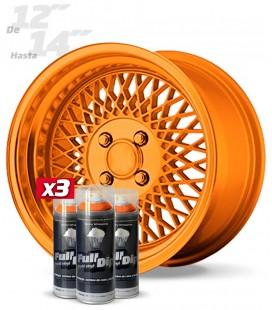 Pack 3 Sprays de 400ml Color NARANJA METALIZADO