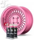 Pack 3 Sprays de 400ml Color ROSA METALIZADO