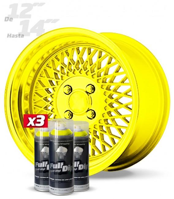 Pack 3 Sprays de 400ml Color AMARILLO METALIZADO
