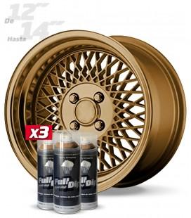Pack 3 Sprays de 400ml Color BRONCE METALIZADO