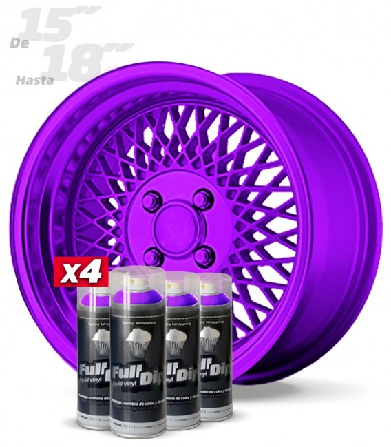 Pack 4 Sprays de 400ml Color VIOLETA METALIZADO