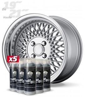 Pack 5 Sprays de 400ml Color ALUMINIO METALIZADO