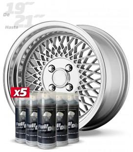 Pack 5 Sprays de 400ml Color HYPERSILVER METALLIC