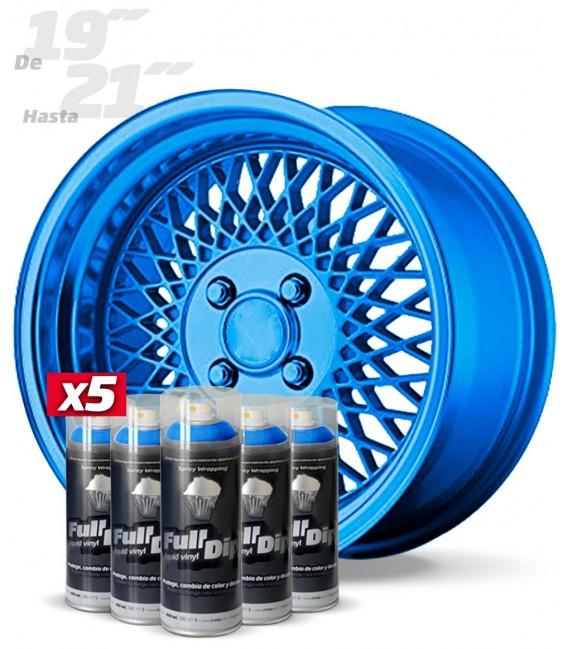 Pack 5 Sprays de 400ml Color AZUL METALIZADO
