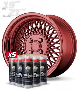 Pack 5 Sprays de 400ml Color ROJO METALIZADO