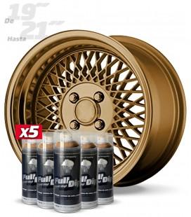 Pack 5 Sprays de 400ml Color BRONCE METALIZADO