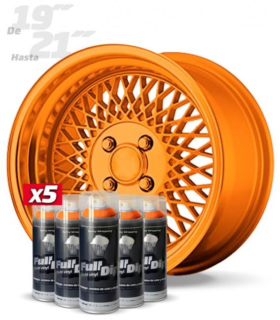 Pack 5 Sprays de 400ml Color NARANJA METALIZADO